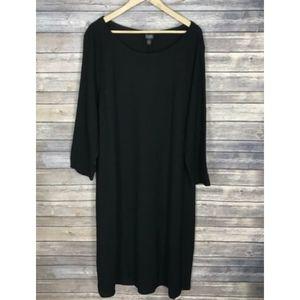 Eileen Fisher Woman 2X Dress Wool Black Plus Size
